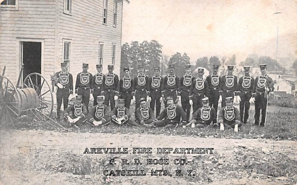 Arkville Fire Department New York Postcard