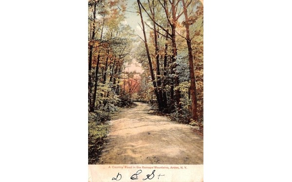 Country Road Arden, New York Postcard