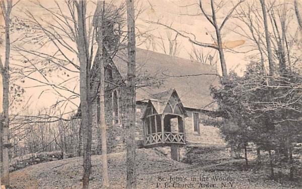 St John's in the Woods PE Church Arden, New York Postcard