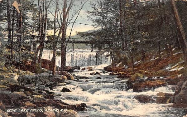 Echo Lake Falls Arden, New York Postcard