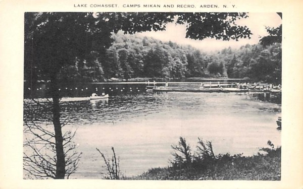 Camps Mikan and Recro Arden, New York Postcard