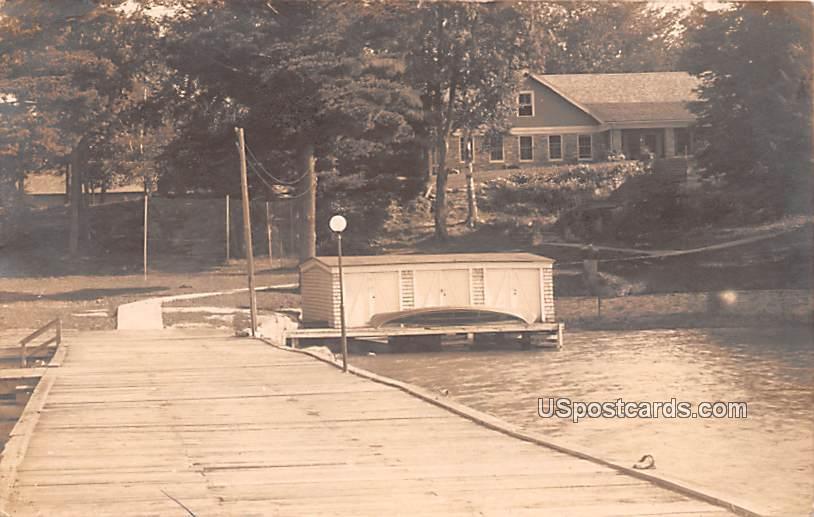 Dock Scene - Alexandria Bay, New York NY Postcard