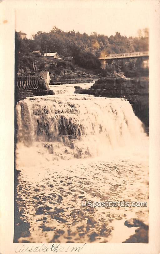 Waterfall - Ausable Chasm, New York NY Postcard