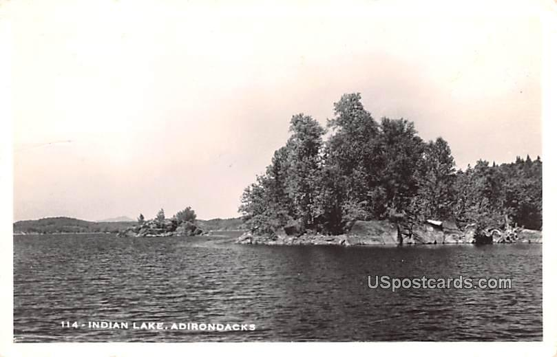 Indian Lake - Adirondack Mountains, New York NY Postcard