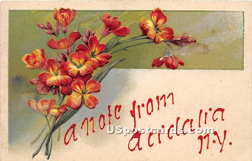 A Note From - Acidalia, New York NY Postcard