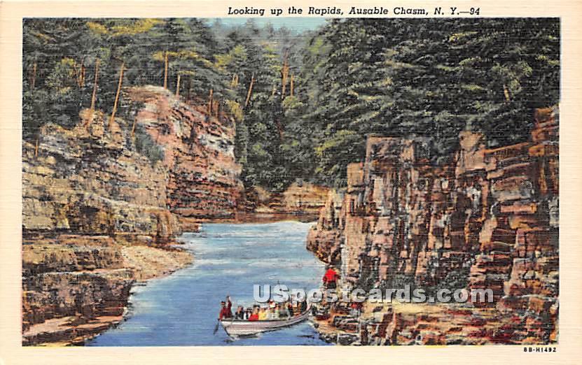 Rapids - Ausable Chasm, New York NY Postcard