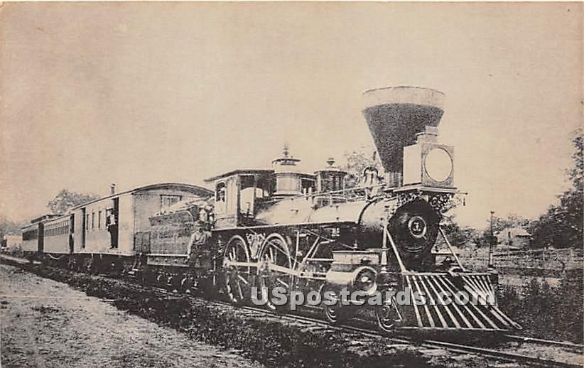 Locomotive No 1, Major General Hancock - Adirondack Mts, New York NY Postcard
