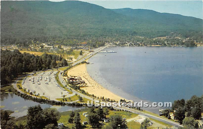 Adirondacks, Lake George State Beach - Adirondack Mts, New York NY Postcard