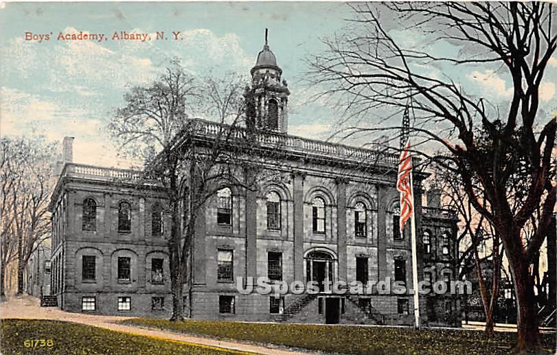 Boys' Academy - Albany, New York NY Postcard