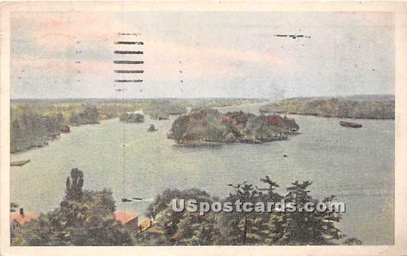 Millionaire Colony - Alexandria Bay, New York NY Postcard