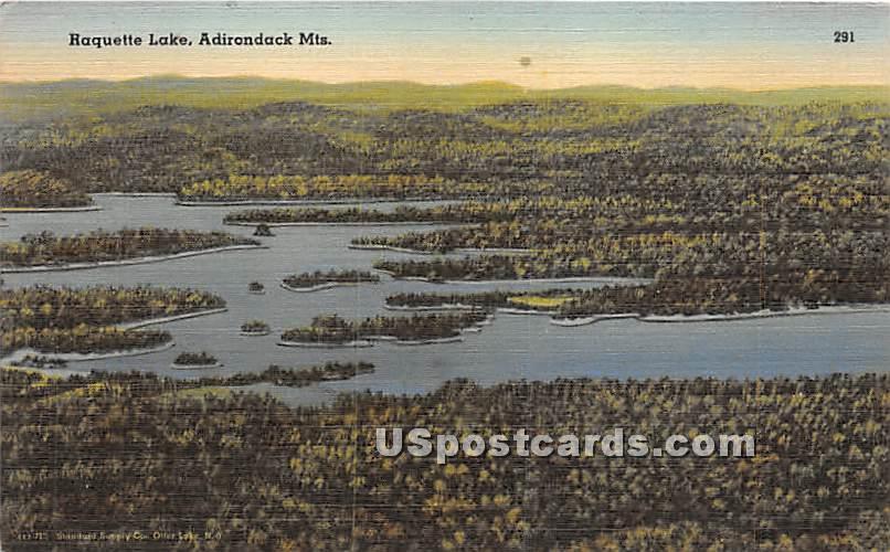 Haquette Lake - Adirondack Mts, New York NY Postcard