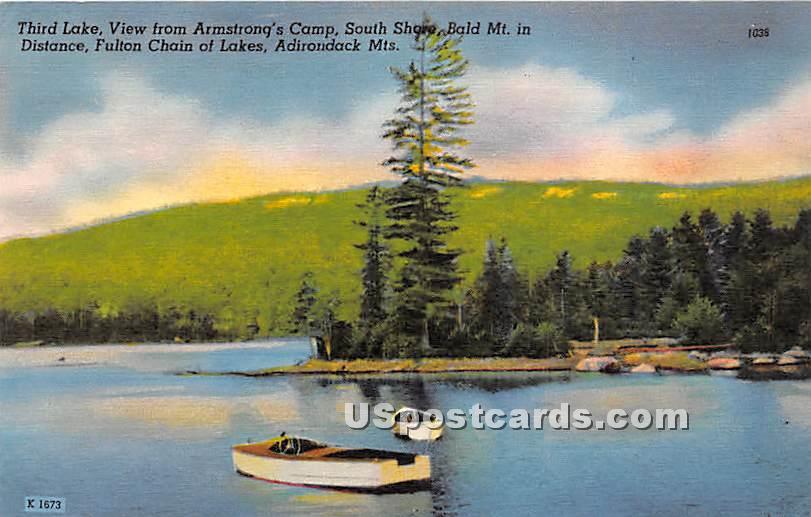 Third Lake, Armstrong's Camp - Adirondack Mts, New York NY Postcard