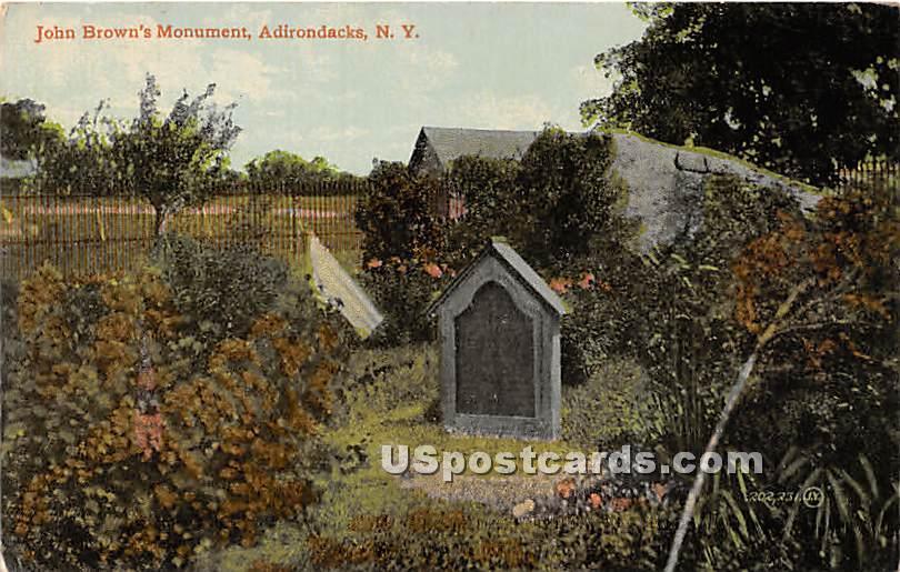 John Brown's Monument - Adirondacks, New York NY Postcard