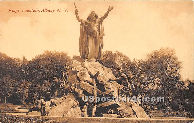 Kings Fountain - Albany, New York NY Postcard