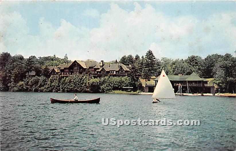 Adirondack League Club, Sailboat - Adirondacks, New York NY Postcard