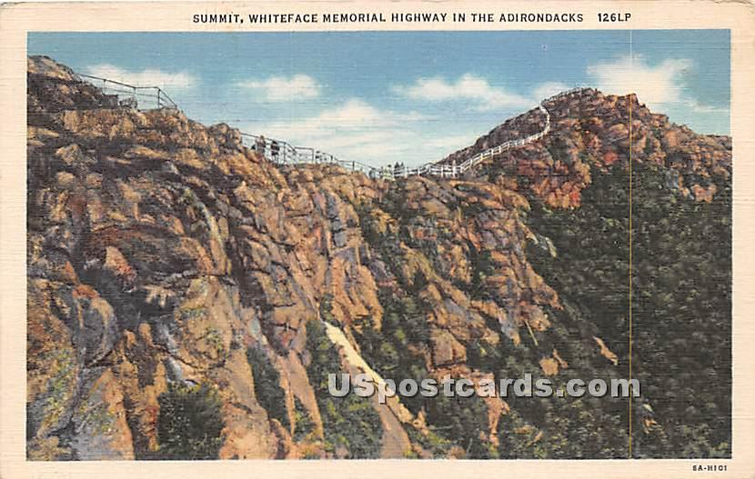 Summit, Whiteface Memorial Highway - Adirondacks, New York NY Postcard