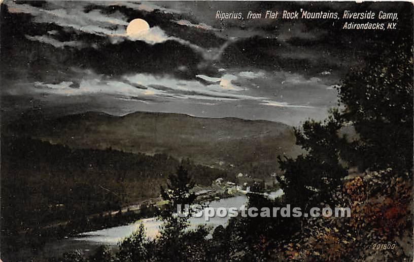 Riparius, Flat Rock Mountains - Adirondacks, New York NY Postcard