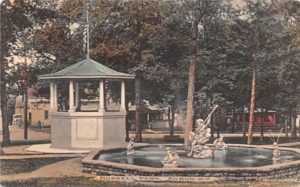 Russell Park Akron, New York Postcard