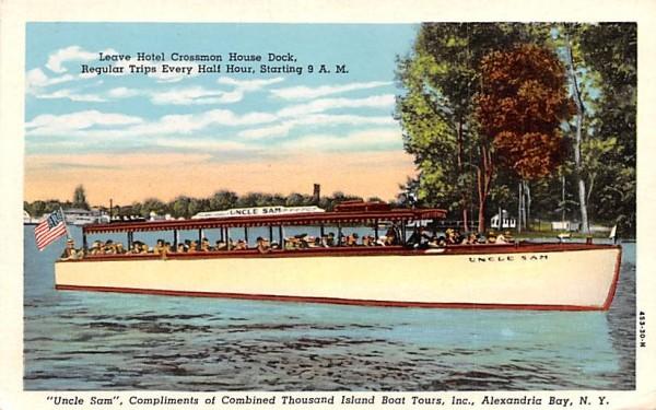 Uncle Sam Boat Alexandria Bay, New York Postcard