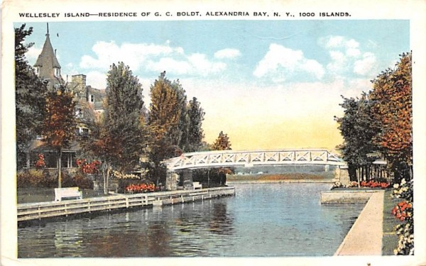 Wellesley Island Alexandria Bay, New York Postcard