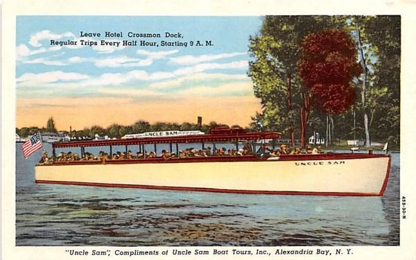 Maxine III Alexandria Bay, New York Postcard