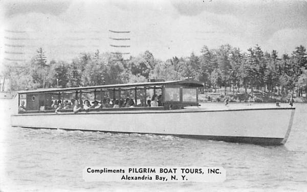 Pilgrim Boat Tours Inc Alexandria Bay, New York Postcard
