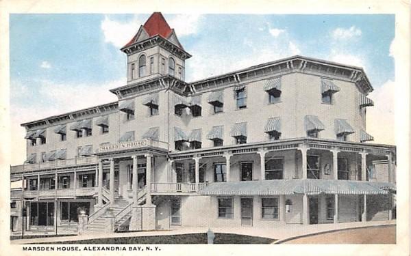 Marsden House Alexandria Bay, New York Postcard