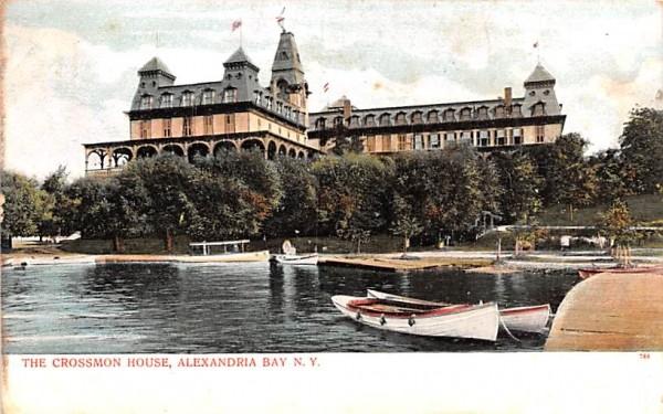 Crossmon House Alexandria Bay, New York Postcard