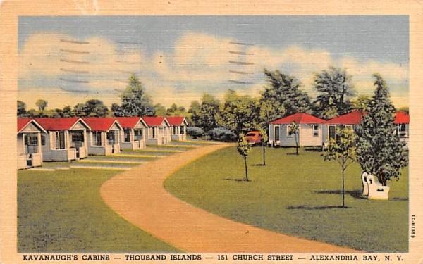 Kavanaugh's Cabins Alexandria Bay, New York Postcard