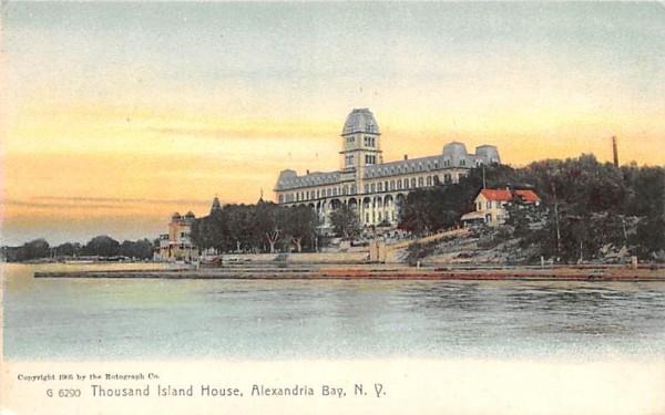 Thousand Island House Alexandria Bay, New York Postcard