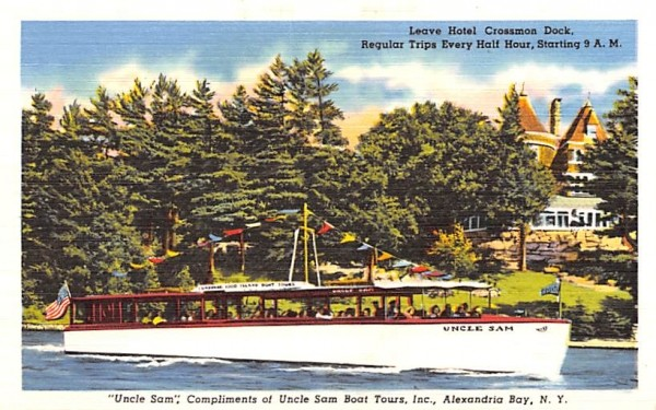 Uncle Sam Alexandria Bay, New York Postcard