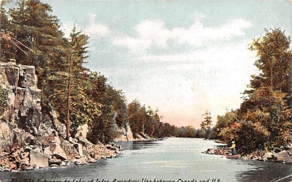 Rift Entrance to the Lake of Isles Alexandria Bay, New York Postcard