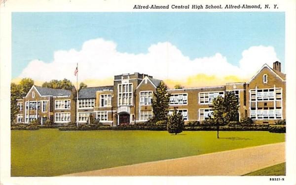 Alfred-Almond Central High School New York Postcard