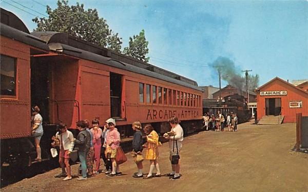 Arcade and Attica Railroad New York Postcard