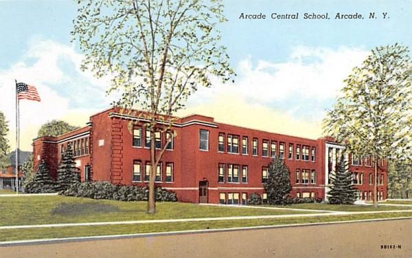Arcade Central School New York Postcard