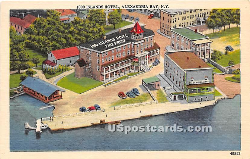 1000 Island Hotel - Alexandria Bay, New York NY Postcard