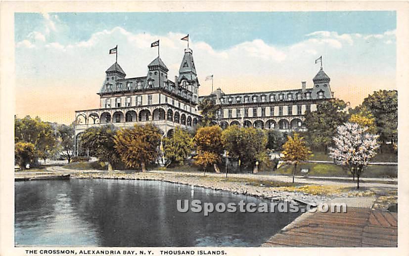 The Crossmon - Alexandria Bay, New York NY Postcard