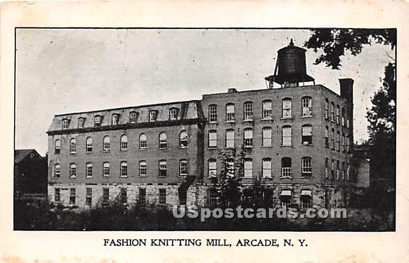 Fashion Knitting Mill - Arcade, New York NY Postcard