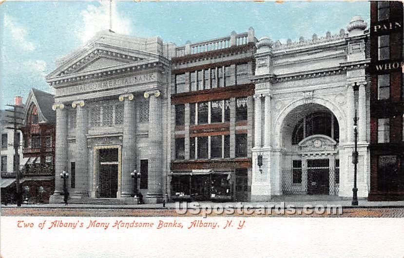 Banks - Albany, New York NY Postcard