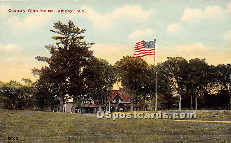 Country Club House - Albany, New York NY Postcard