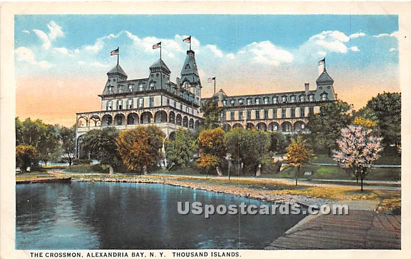 Crossmon - Alexandria Bay, New York NY Postcard