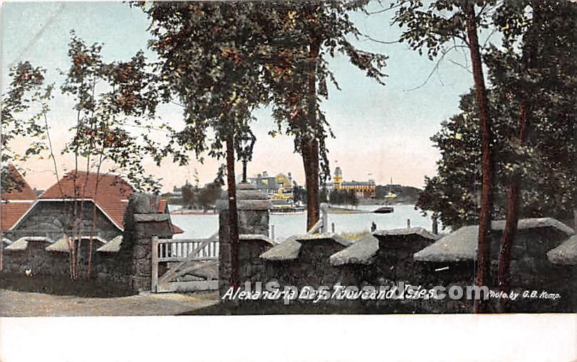 Thousand Isles - Alexandria Bay, New York NY Postcard