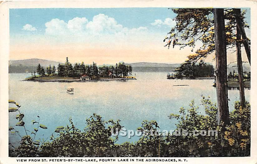 St Peter's-by-the-Lake - Adirondacks, New York NY Postcard