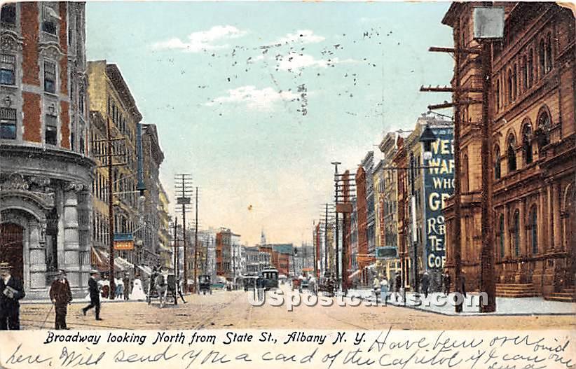 Broadway - Albany, New York NY Postcard
