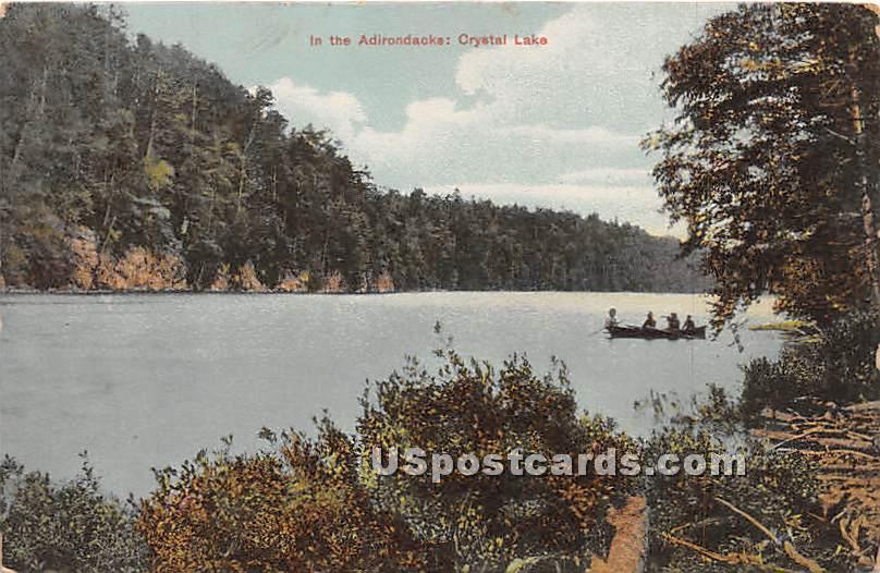Crystal Lake - Adirondacks, New York NY Postcard