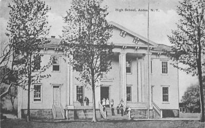 High School Andes, New York Postcard