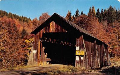 Millbrook Bridge Andes, New York Postcard