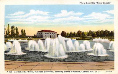 A-100 Aerating the Water Ashokan Reservoir New York Postcard