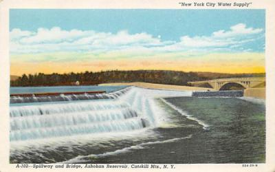 A-102 Spillway and Bridge Ashokan Reservoir New York Postcard