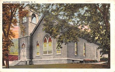Baptist Church Addison, New York Postcard